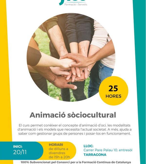 Curs d'animació sòciocultural – Inici: 20/11/2019