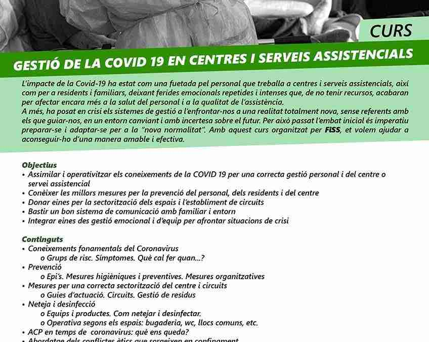 Gestió de la covid 19 en centres i serveis assistencials