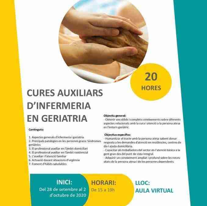 Curs de cures auxiliars d'infermeria en geriatria