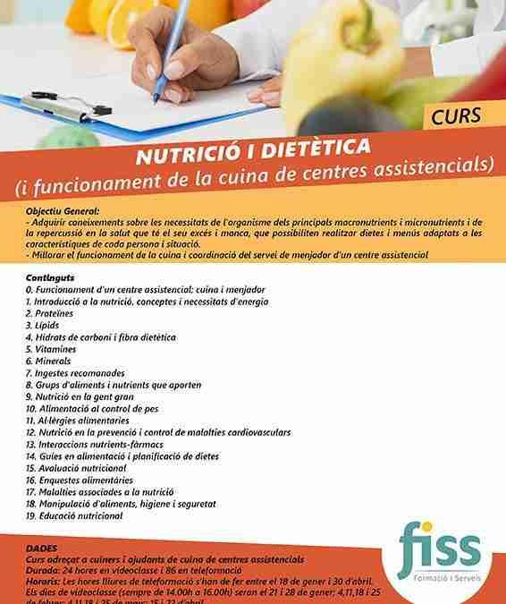 Curso sobre Nutrición y Dietética para cocineros y ayudantes de cocina de centros asistenciales