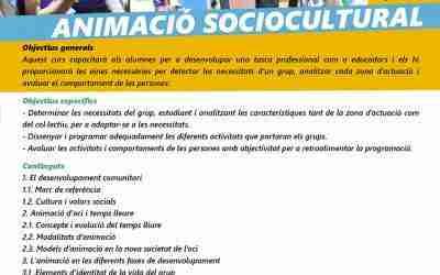 Curso de animación sociocultural