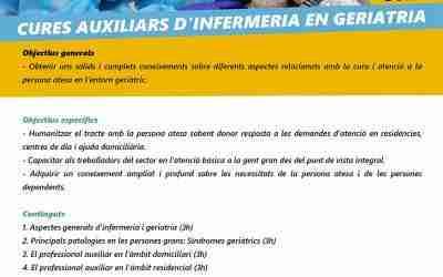 Curso de cuidados auxiliares de enfermería en geriatría