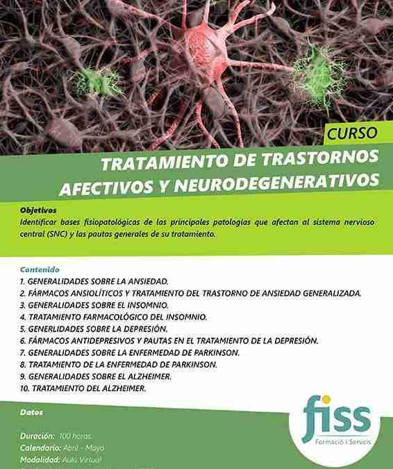 Tratamiento de trastornos afectivos y neurodegenerativos