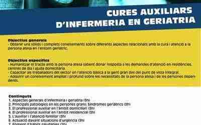 Curs sobre cures auxiliars d'infermeria en geriatria