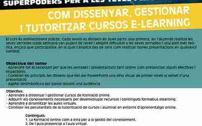 Curs sobre com dissenyar, gestionar i tutoritzar cursos e-learning