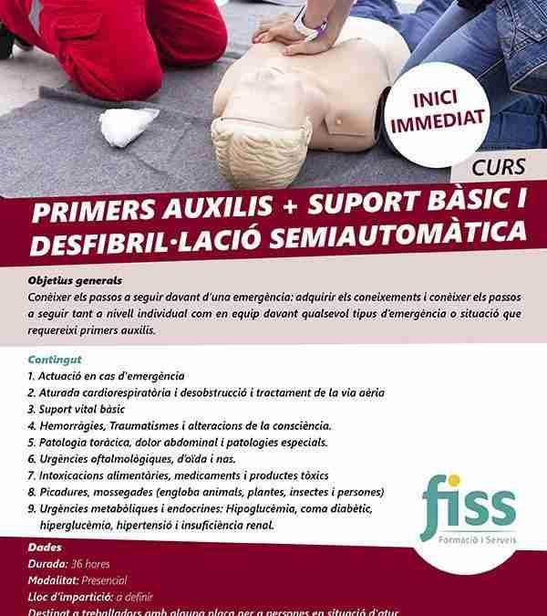 Primers auxilis + suport vital bàsic i desfibril·lació semiautomàtica